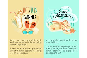 Sweet Hot Fun Summer Banners Set