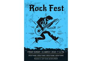 Rock Fest Event Announcement Poster
