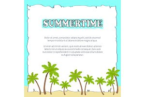 Summertime Poster on Sheet of Paper