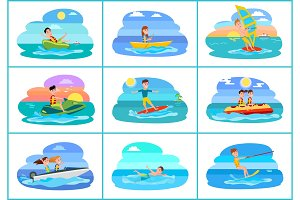 Sailboat Collection of Sport Vector