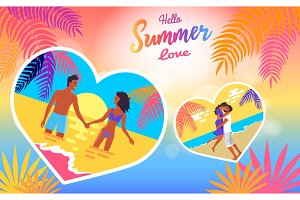 Hello Summer Love Poster of Coast