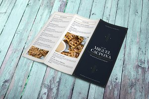 Restaurant Trifold Brochure Menu
