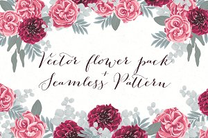 Vector Flower DIY Pack + Pattern