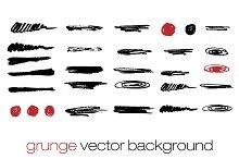 Vector set of brush strokes.