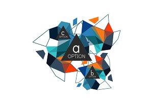 Geometric triangle infographics