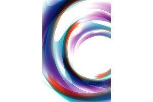 Holographic fluid colors flow