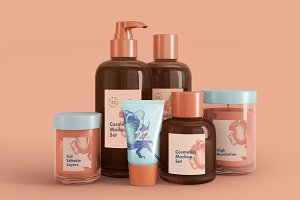 Cosmetics mock-up set 22 psd files
