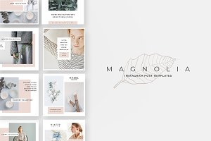 Magnolia Instagram Post Templates