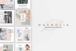 Magnolia Instagram Post Templates