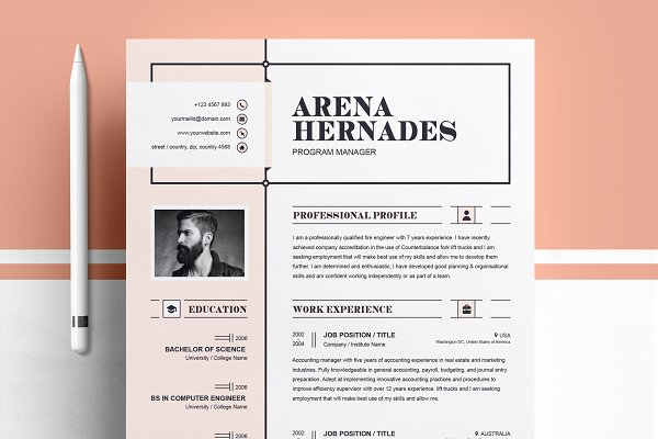 resume templates modern resume template - Resume With Picture Template