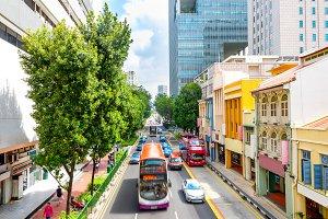 traffic on Singapore city street
