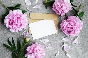 invitation card, craft envelope and
