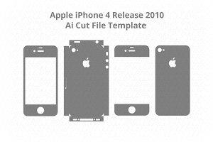 iPhone 4 Vinyl Skin Vector Cut File