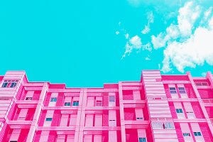 Pink Hotel.  Architecture and Geomet