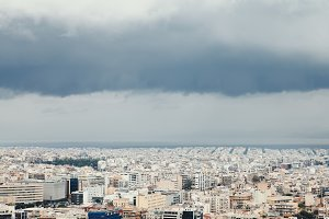 over Athens.