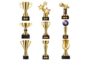Award trophy vector winners prize