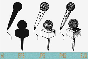 Microphone Karaoke set svg vector