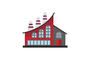 Industrial factory color icon