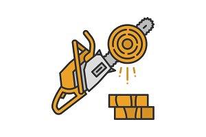 Chainsaw color icon