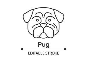 Pug linear icon