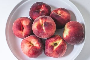 Fresh White Peaches