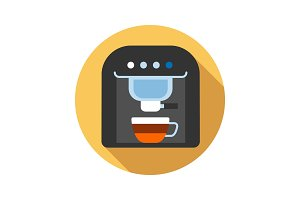 Coffee machine color icon