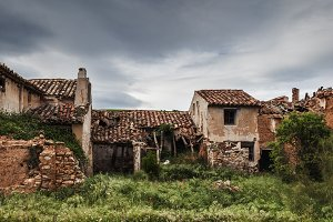 Ruins of an old rural stone house