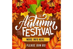 Autumn festival, harvest holiday