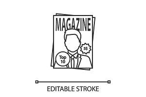 Magazine linear icon