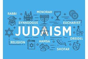 Judaism religious line symbols