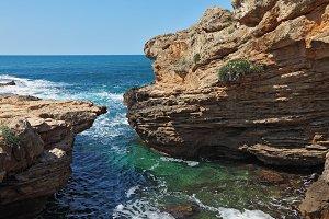 Picturesque sea coast