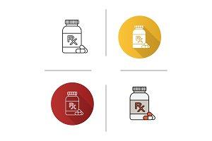 RX pills bottle icon