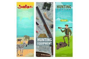 Hunting club open season banners