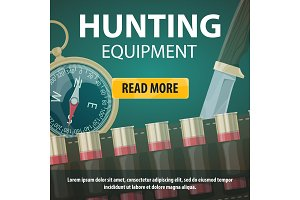 Vector hunting equipment store
