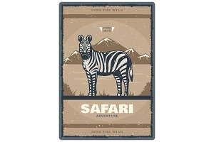 Vintage poster for Safari hunt club