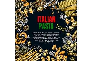 Poster of Italian premium pasta