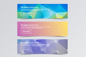 Polygonal banners for web