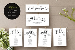 Rustic Wedding Seating Cards, Sophie
