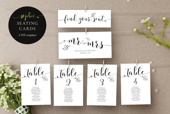 Rustic Wedding Seating Cards, Sophie