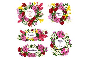 Floral frame for Save the Date cards