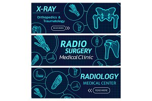 Radiology medical X-ray banners
