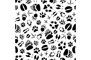 Animal or bird footprints pattern