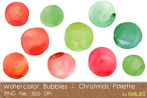 Watercolor Christmas Bubbles
