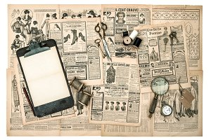 Antique accessories and tools