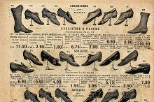 Vintage victorian shoes collection
