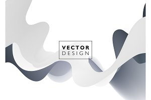 Abstract vector background, wavy