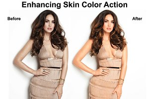 Enhancing Skin Color Action