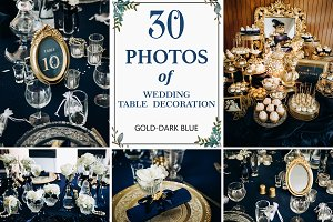 30 PHOTOS SET of WEDDING DECORATION