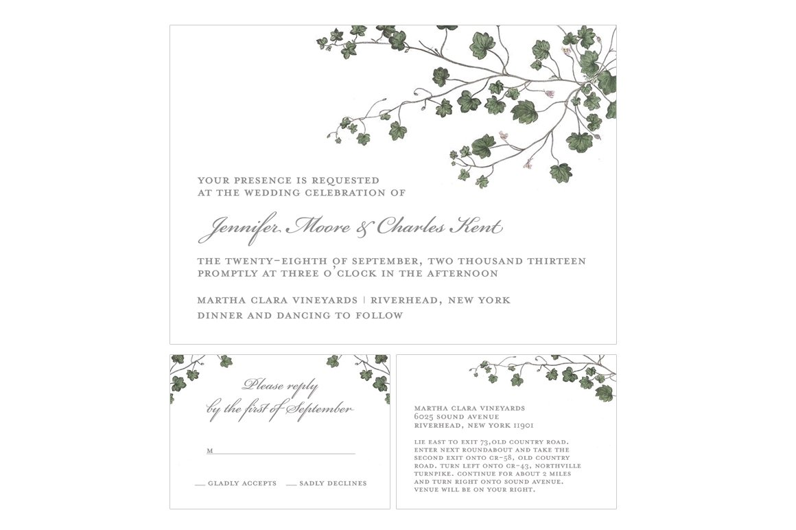 Classic Ivy Wedding Suite ~ Wedding Templates ~ Creative