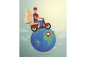 World Wide Delivery. Vector